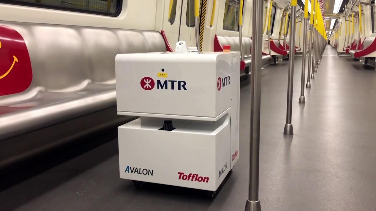Robots Deep Clean Hong Kong Metro (Mar 2020) - YouTube