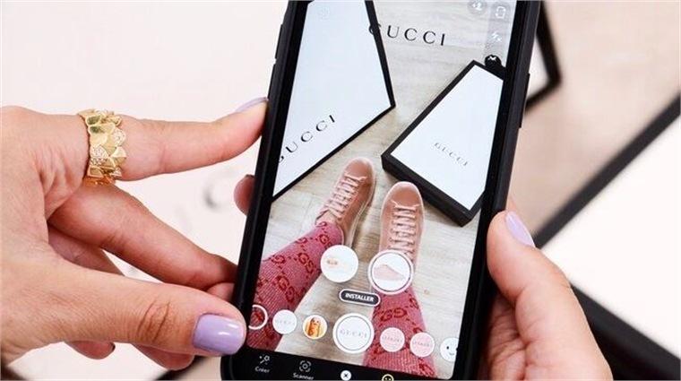 Gucci xr shopping augmenté