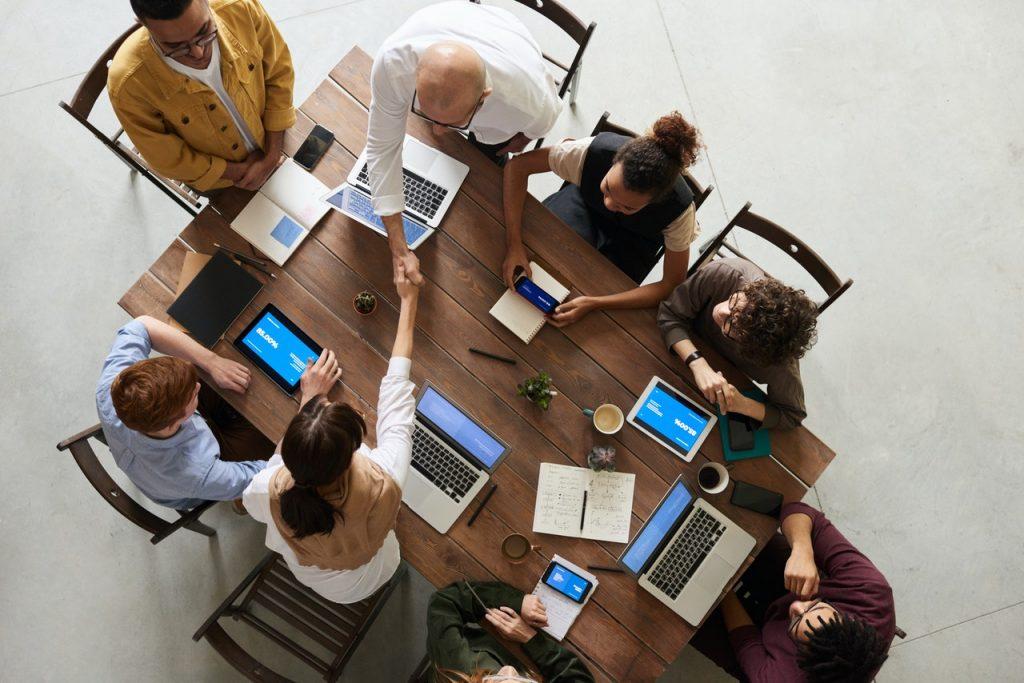business meeting - venture capital deal