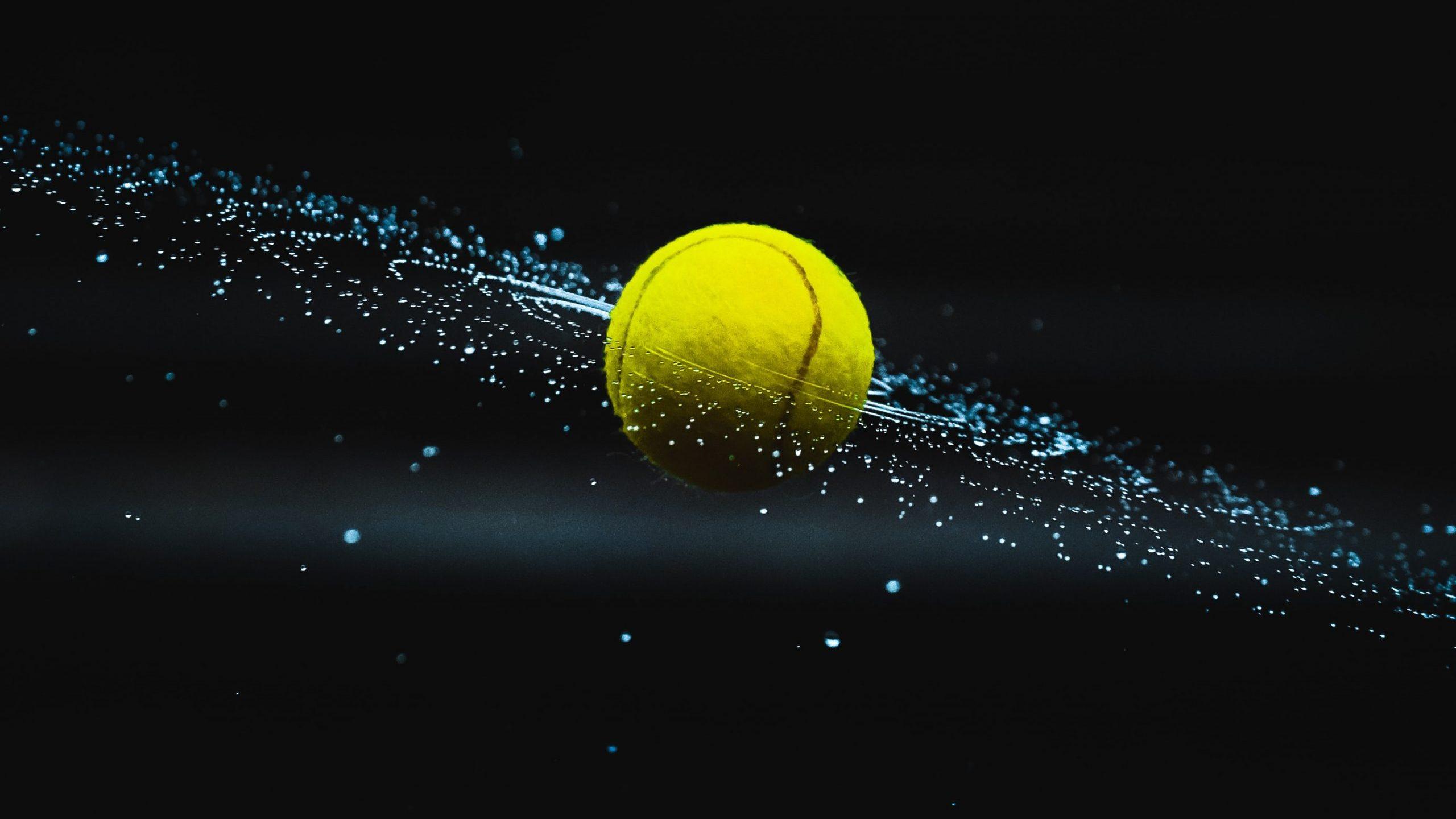 top sports startups - tennis ball flying